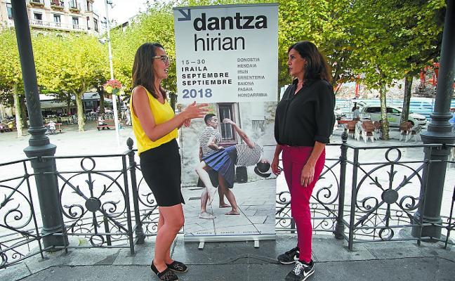 Dos espectáculos de Dantza Hirian toman como escenario la plaza del Ensanche