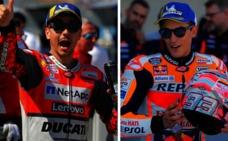 Márquez zanja la polémica con Lorenzo: «Recupérate pronto»