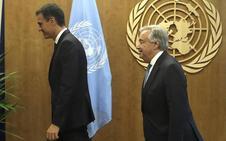 Pedro Sánchez se reúne con el secretario general de la ONU