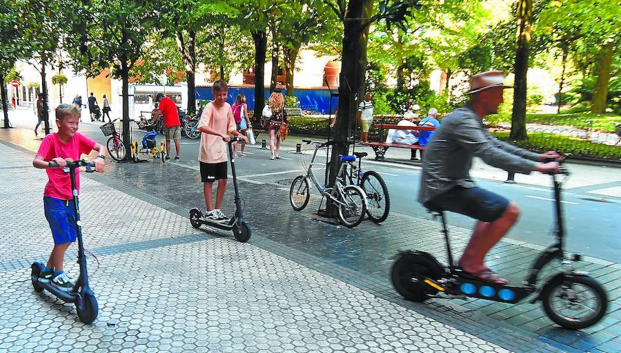 En San Sebastián, los patinetes eléctricos no podrán circular por las aceras