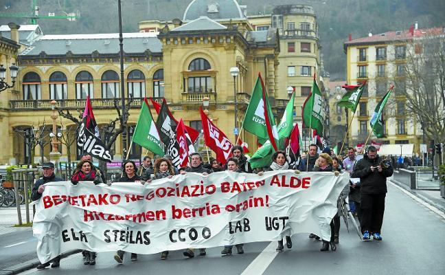 La red concertada vasca se enfrenta el martes y miércoles a dos días de huelga
