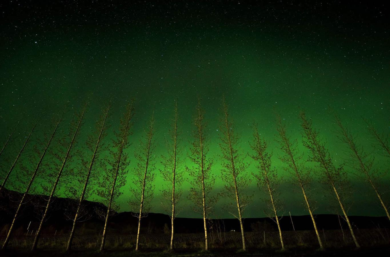 El cielo lapón se torna a verde