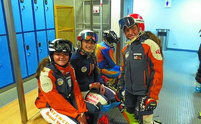 La esquiadora Maddi Iraola vuelve a entrenar