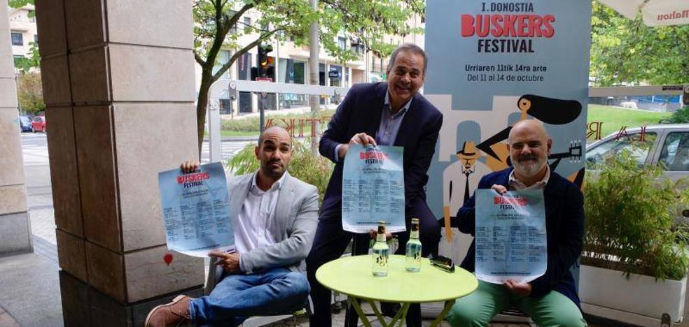 El Festival Buskers ofrece 40 conciertos en 20 terrazas de Donostia