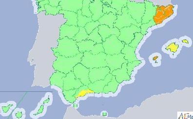 Las lluvias mantienen con avisos a Cataluña, Baleares y Málaga