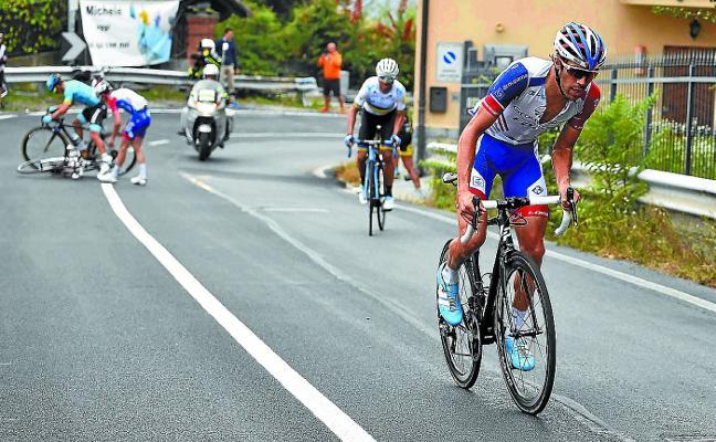 Pinot, un ciclista antiguo para la carrera más vieja