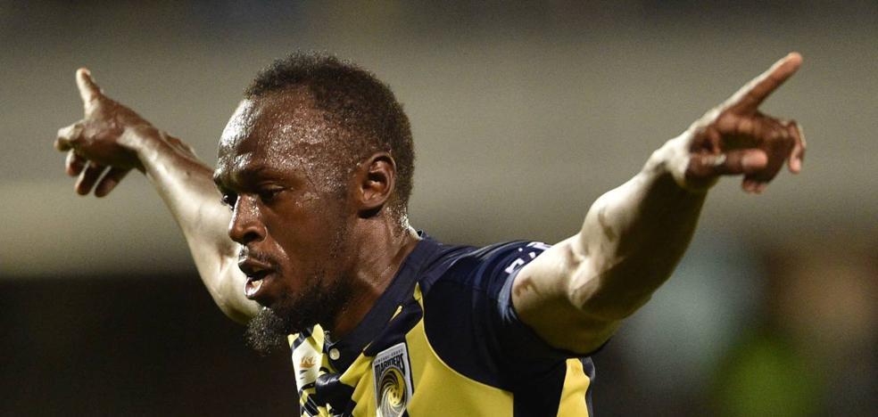 Usain Bolt ya saborea el gol