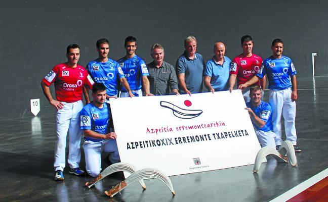 El Torneo de remonte de Azpeitia arranca esta tarde en el frontón Izarraitz