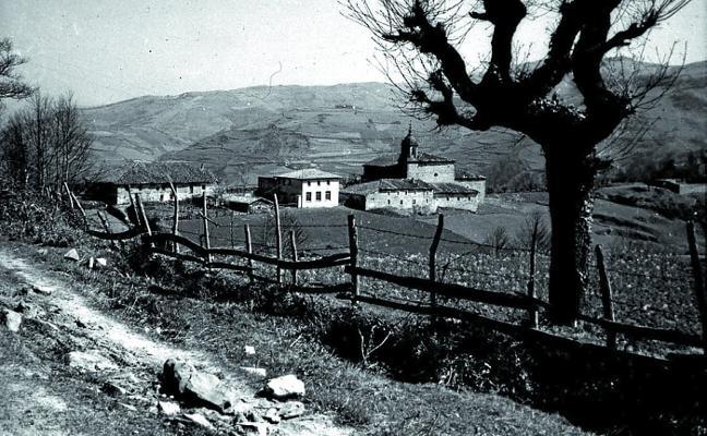 El entorno rural del barrio bergarés de Elosua en 1957
