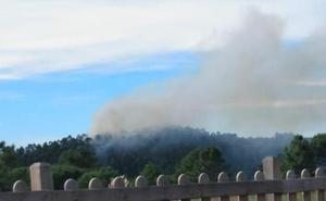 Extinguido el incendio que amenazaba el monte protegido de Barrikabaso, en Bizkaia