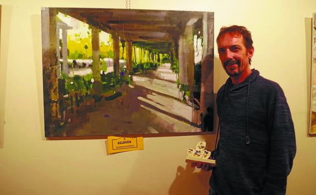 José Miguel Arranz (Ganador del XXVII Certamen de Pintura al Aire Libre): «He tenido que pintar el cuadro en base a una foto hecha a primera hora»