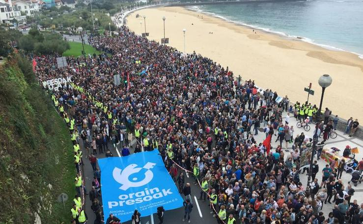 Manifestación en Donostia a favor de los presos de ETA