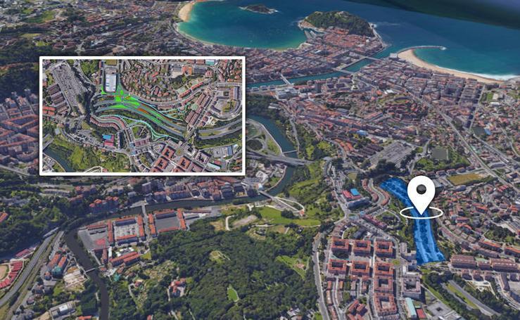 Nuevo enlace en la variante de San Sebastián en Marrutxipi