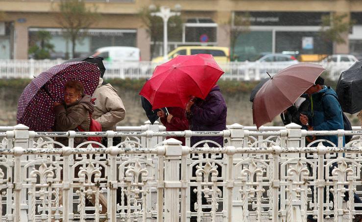 Frío y lluvia en Donostia