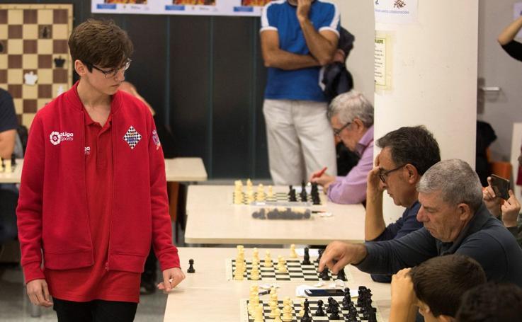 Pedro Gines, un joven ajedrecista de récord