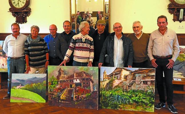 El pintor lesakarra Javier Igoa vence el Certamen de pintura del Casino