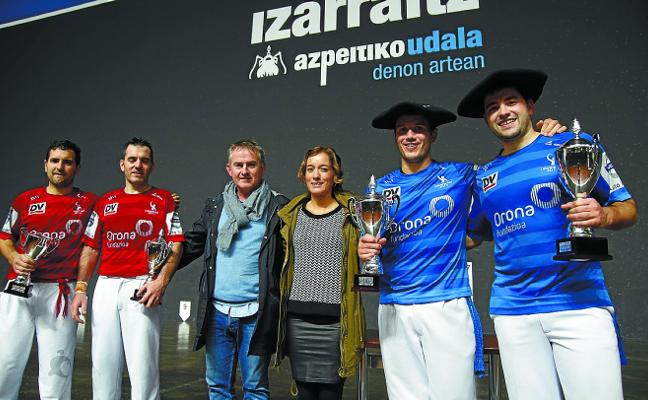 Los representantes de Loiola, Uterga y Labaka, ganadores del Torneo de Remonte