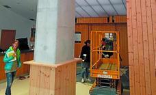 El Ayuntamiento ha instalado cierres entre el frontón y el bar de Aitzuri