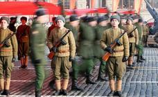 Moscú recrea el desfile de 1941 en la Plaza Roja