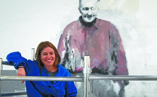 Un mural de Udane Juaristi homenajeará en el mercado a la mujer baserritarra