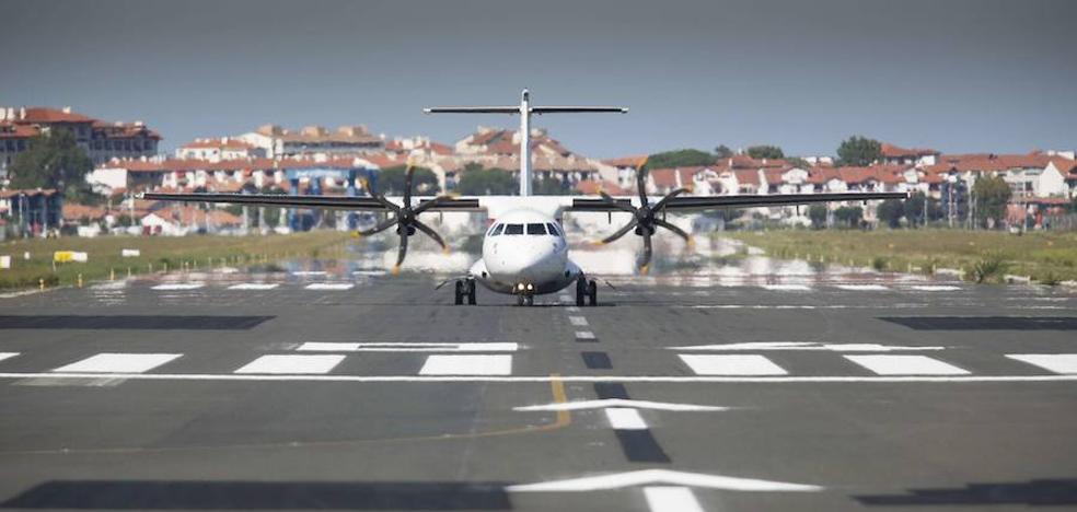 Cinco vuelos cancelados y 182 pasajeros afectados en Hondarribia