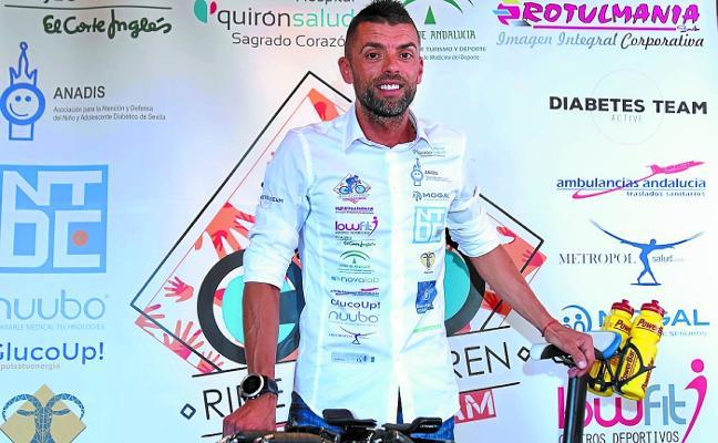 Mil kilómetros en bici de Eibar a Sevilla por la diabetes