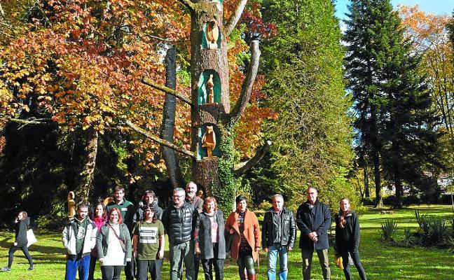 El cedro del Líbano del jardín de Bertiz revive a sus 130 años