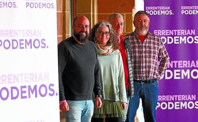 Podemos sale a la calle con la campaña 'En 2019 en Errenteria Podemos'