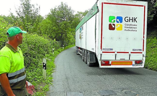 Gipuzkoa envía a Bizkaia más de 10.000 toneladas de basura en dos meses