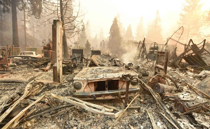Devastador incendio en norte California