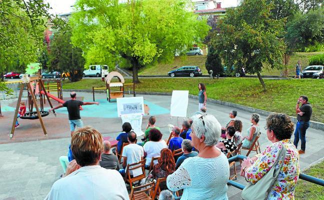 Dos alternativas para la 'cubierta verde' del parque de Laubide