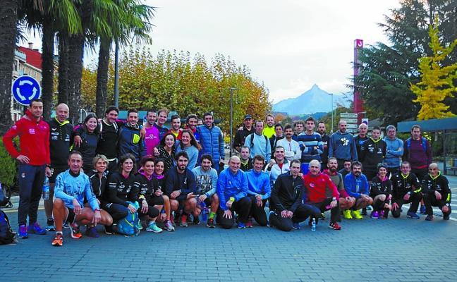 Koldo Agirre, el mejor crono de los corredores de Beasain en la Behobia
