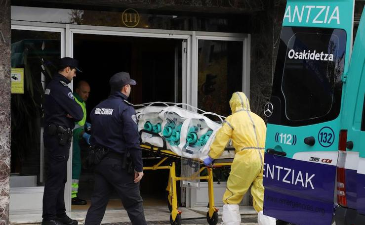 Simulacro de ébola en Donostia