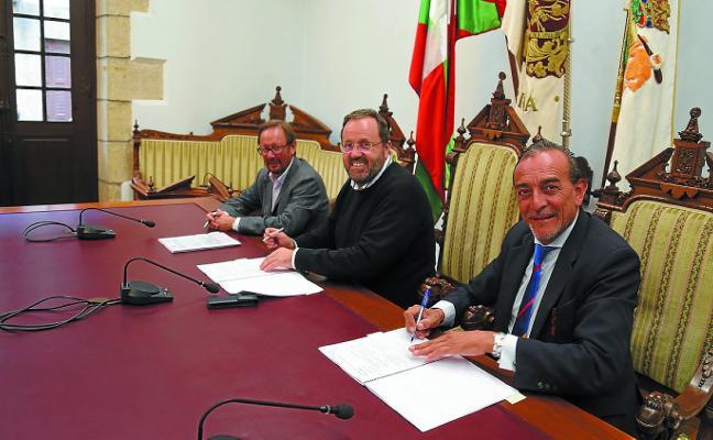 Gobierno Vasco y Ayuntamiento firman el acuerdo para Presa I y II