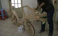 ¿Se puede construir una bicicleta con palitos de helado?