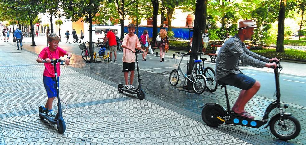 San Sebastián pone coto a los patinetes eléctricos