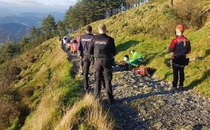 Fallece un hombre cuando caminaba por el monte Uzturre de Tolosa
