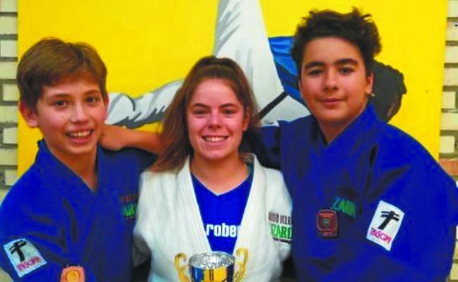 Judo Klub Lizardiko getariar judoka infantilak, Shalva Jokadz eta Unax Iraeta, bikain