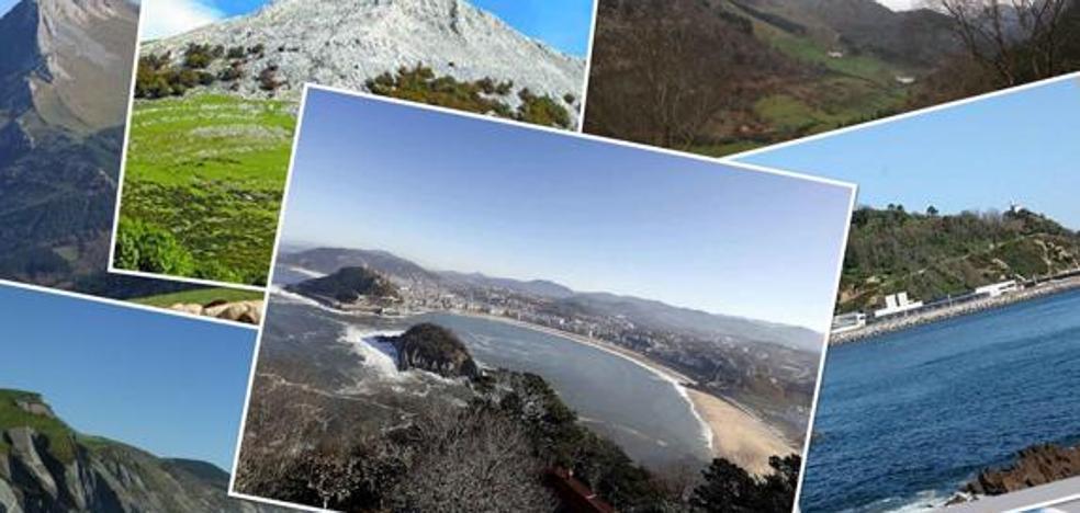 Siete paisajes naturales de Gipuzkoa