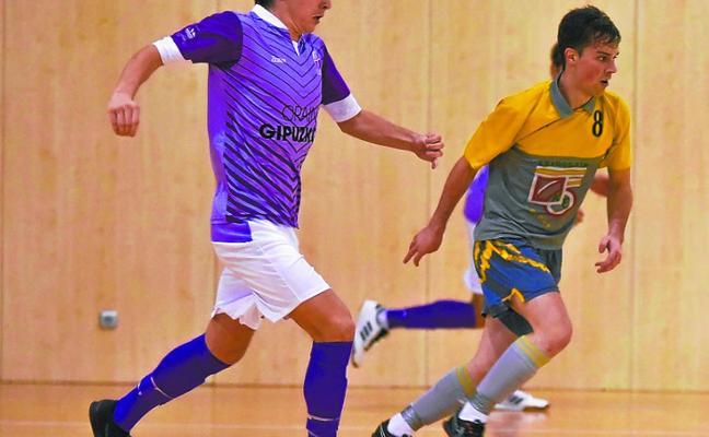 Jornada desigual en fútbol sala para Laskorain y Lauburu