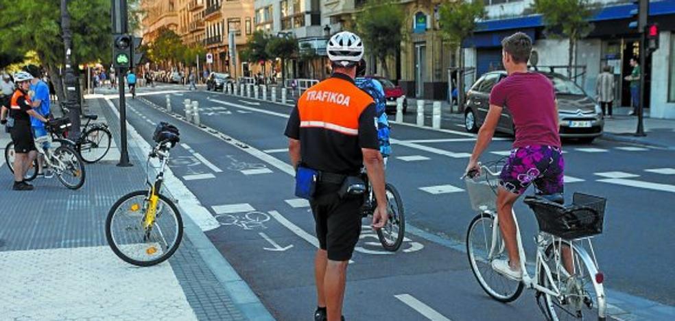 Casi 200 ciclistas sancionados en una semana en San Sebastián