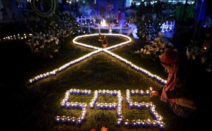 Vigilia a las víctimas de violencia género en Guatemala
