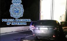 Detenido con 450 kilos de hachís y 28 de marihuana dentro de su coche tras sufrir un accidente