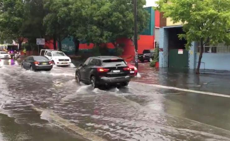 Lluvias torrenciales en Sidney