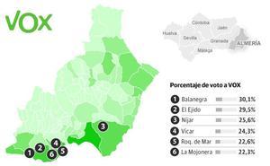 Los feudos de Vox en Andalucía