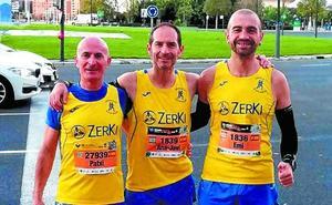 Los atletas de Argixao tomaron parte en el maratón de Valencia