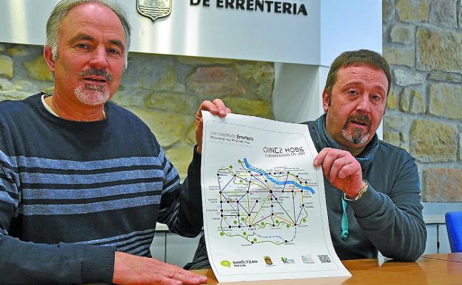 Errenteria ya tiene sus propios recorridos 'Metrominuto'