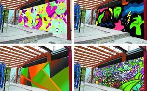 Un mural para el parque de Makatzena