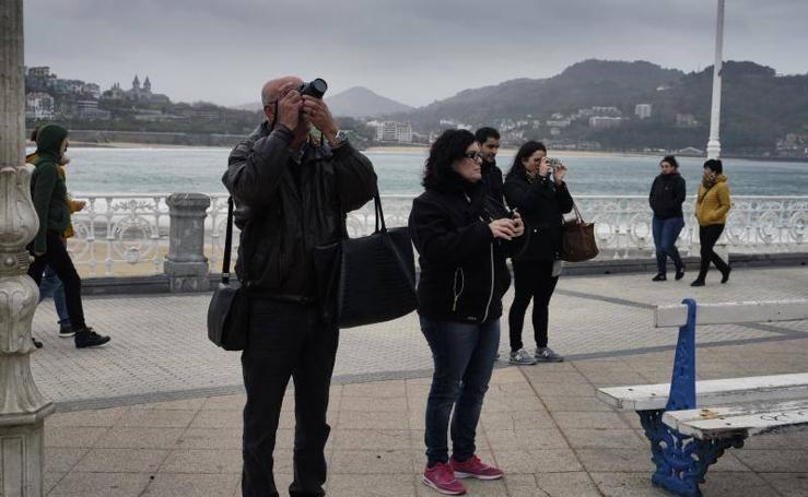 Turistas en San Sebastián