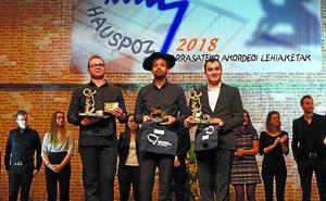 Samuele Telari, ganador del Certamen Internacional 'Arrasate Hiria' de acordeón